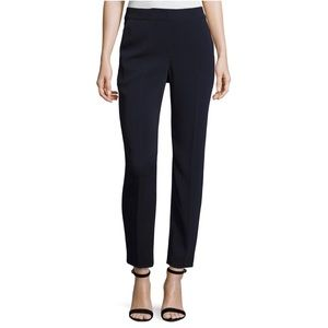 St. John Collection Black Cropped Straight Pants 8